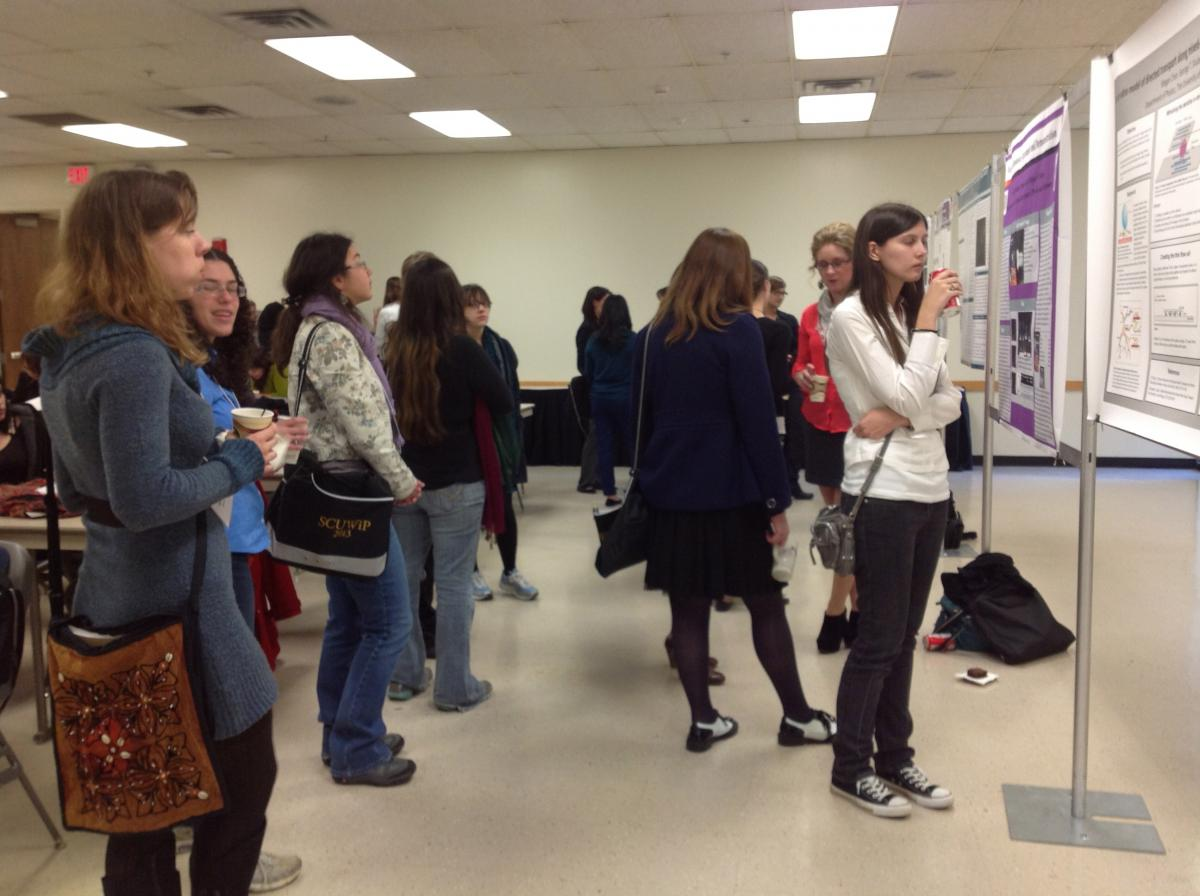 The poster session at SCUWiP 2013. Photo by Rikki Garner