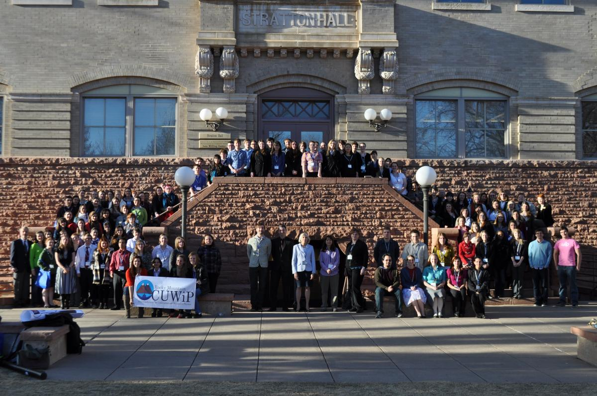 The Rocky Mountain CUWiP attendees. Photo by Zach Boerner