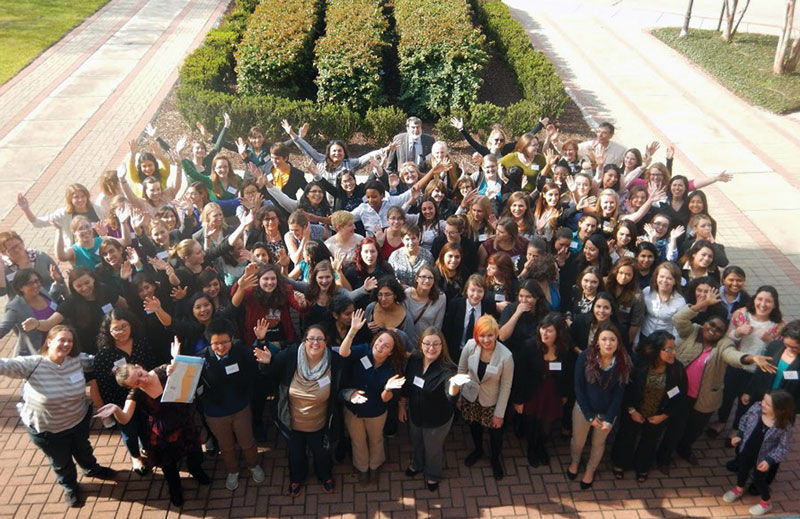 Participants at the 2015 APS Conference for Undergraduate Women in Physics at the University of Texas Brownsville