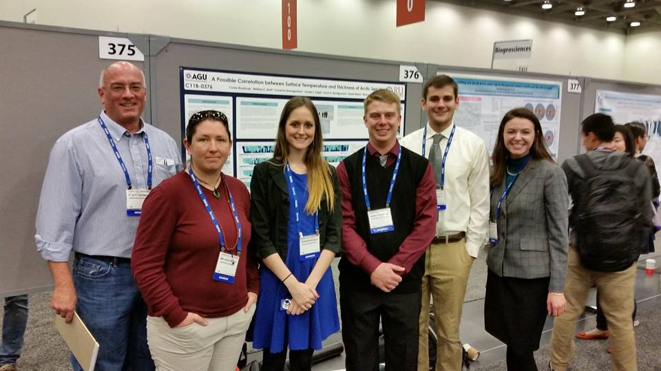 SPS members from Radford University at the AGU 2014 Fall Meeting.