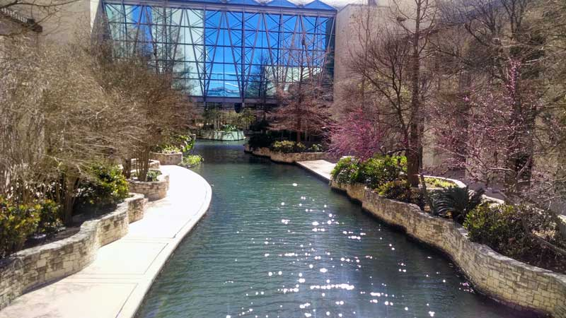 A view of the San Antonio River where it passes through the conference center. Fortunately, the clouds cleared on the last day I was there.
