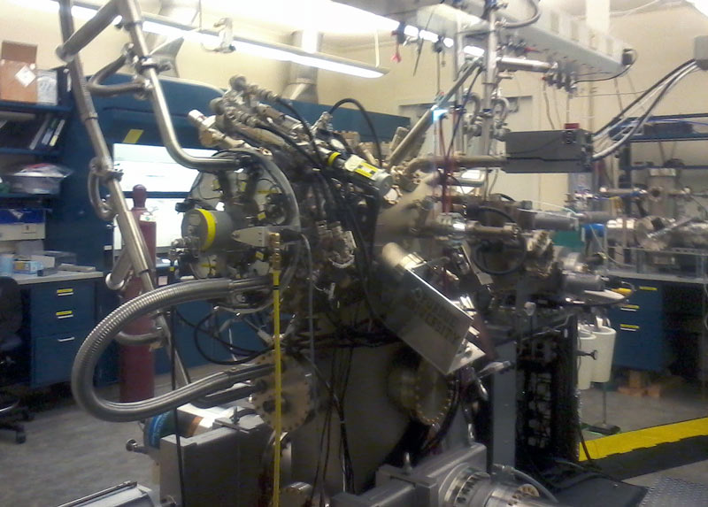 The molecular beam epitaxy (MBE), a machine used for crystal growth at Birck Nanotechnology