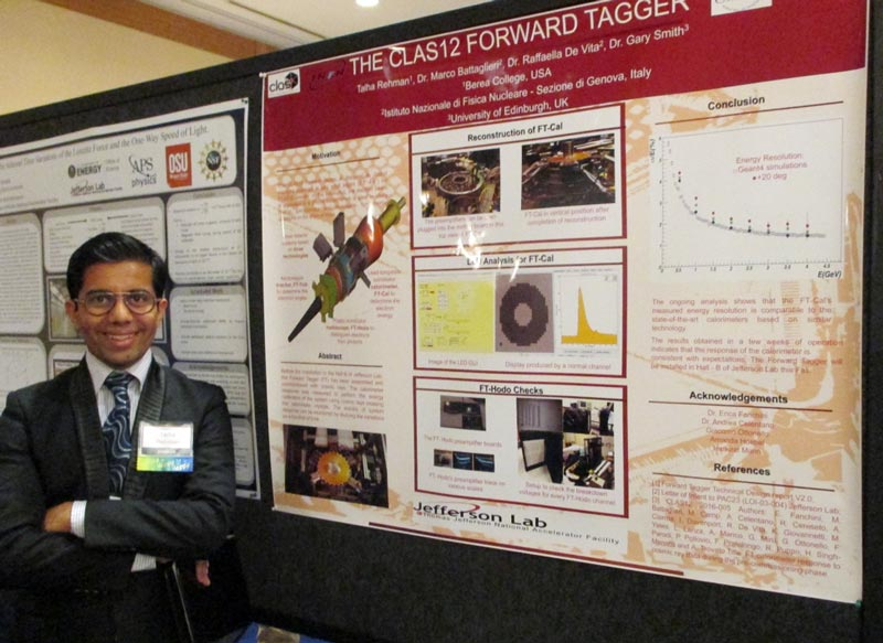 Talha Rehman with his poster during the Undergraduate Poster Session.