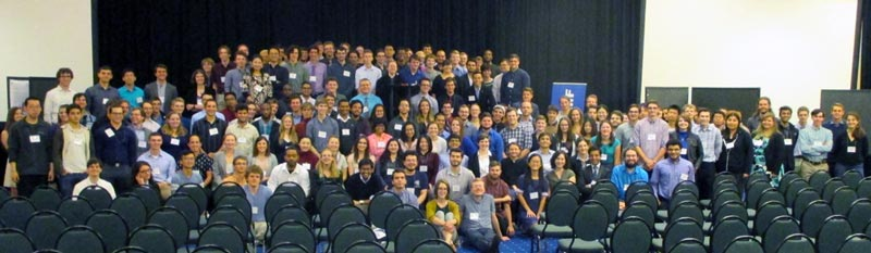 Group Photo of the Undergraduates taken at the end of Poster Session.