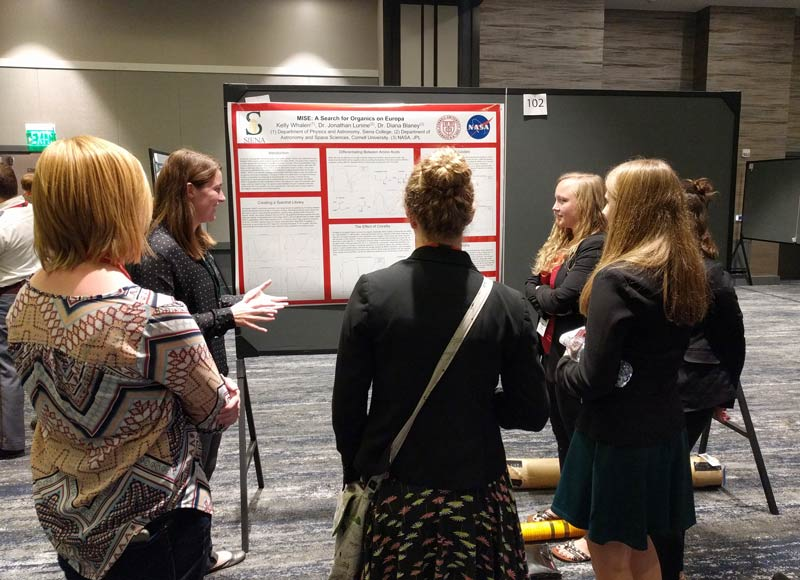 Kelly Whalen of Siena College explains her poster.