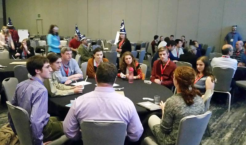 Students from chapters across the country gathered in small groups to share best practices and challenges.