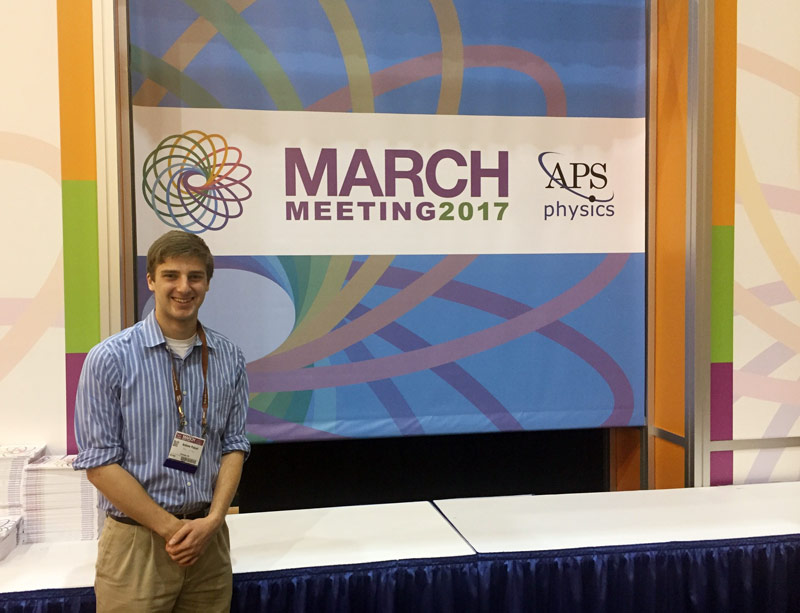 SPS reporter Andrew Polcari at the APS March Meeting 2017.
