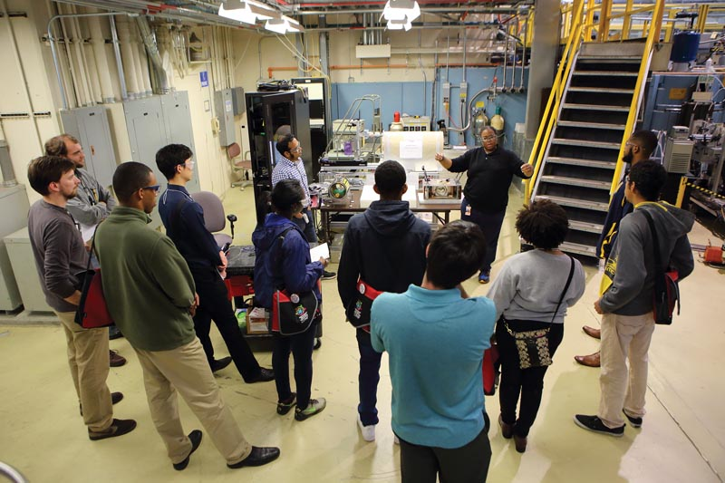 CU2MiP participants touring the NIST Center for Neutron Research. Photo courtesy of Donna Hammer, University of Maryland.