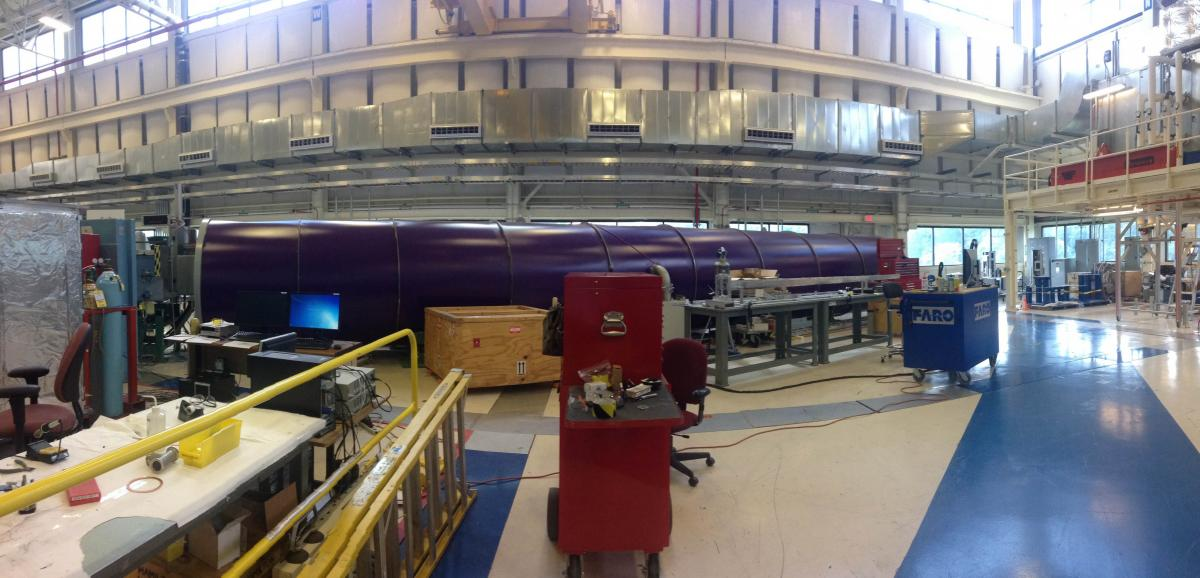 Purple neutron scattering tube!