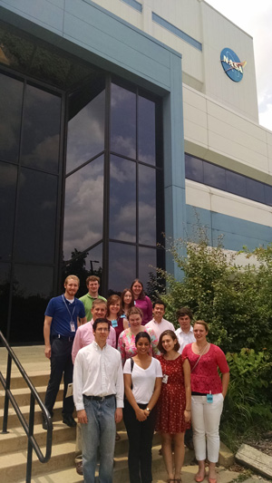 SPS-NASA interns Max Torke and Rachel Odessey organized a tour for all of the SPS interns at the NASA Goddard Space Flight Center.
