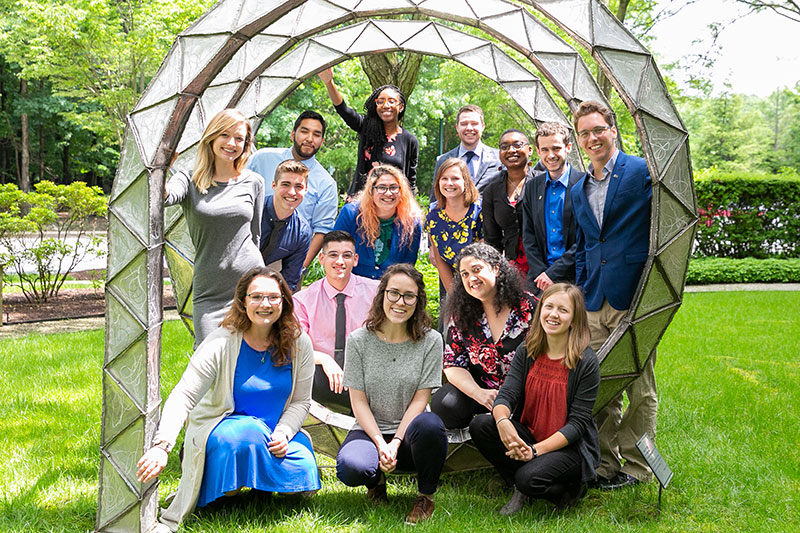 The 2018 SPS Interns pictured at the American Center for Physics in College Park, MD.