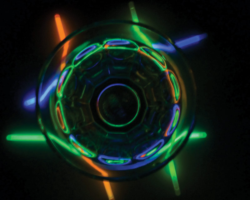 "Used by permission from AAPT, 2014 High School Physics Photo Contest, ""Glowing Refraction,"" by Claire Inna Isabelle Saloff-Coste, Ithaca High School."