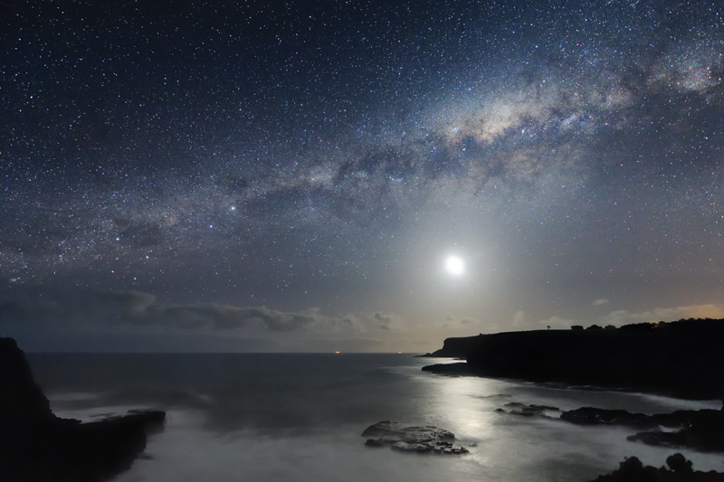 The Milky Way galaxy over Mornington Peninsula, south of Melbourne, Australia. Photo by Alex Cherney.