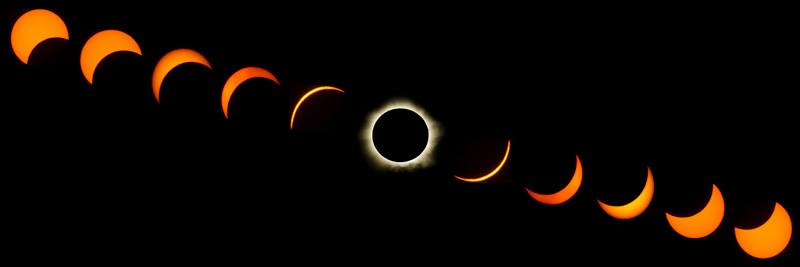 Solar eclipse transition from Cairns, Australia. Image credit - iStock.com