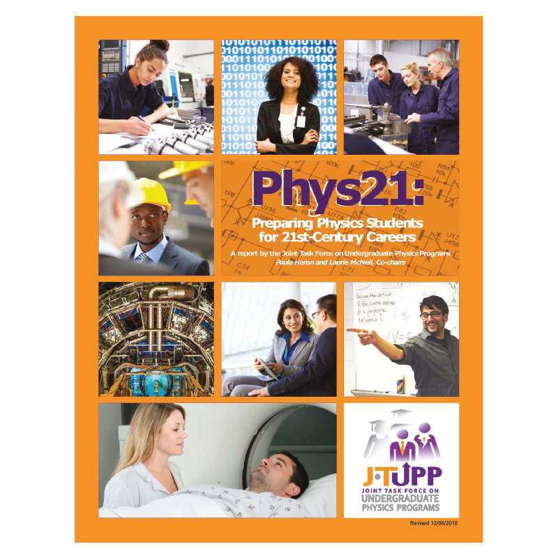 The Phys21 report is available at www.compadre.org/JTUPP/report.cfm.  Design by the American Physical Society (CC BY 4.0).