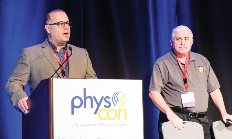 PhysCon Co-chairs Bill DeGraffenreid and Steve Feller.  Photo courtesy of Ken Cole