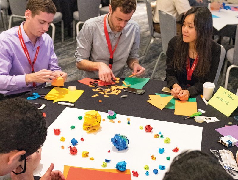 Students develop innovative designs to solve technological challenges. Photo courtesy of Ken Cole