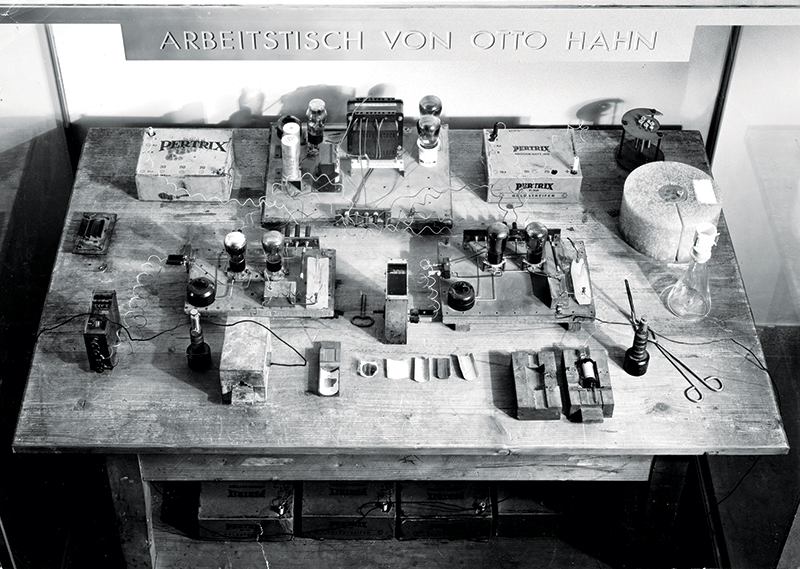 Otto Hahn's worktable used in the discovery of nuclear fission.  Image courtesy of the Deutsches Museum Munchen.