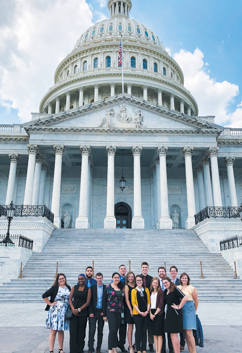 2018 Interns touring Capitol Hill. Photo courtesy of Samuel Borer.