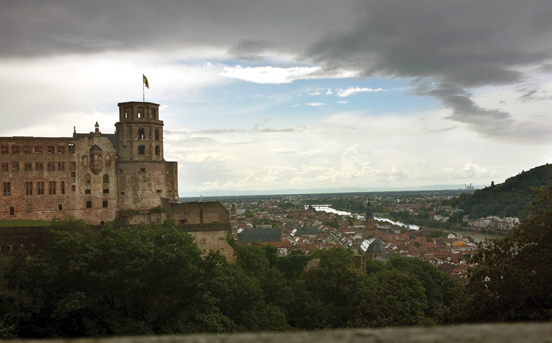 The view from the castle of Heidelberg. Photo by Helen Meskhidze.