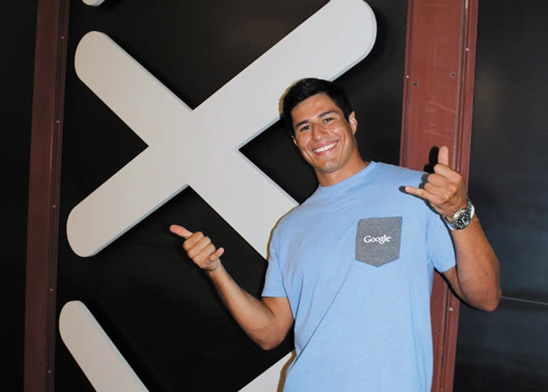 BEN Perez poses at the entrance of Google X. Photo by Sandeep Giri.