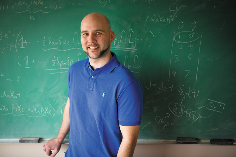 Sean Bearden is now at the University of California, San Diego, studying condensed matter experimental physics with physicist Dmitri Basov. Photo by Douglas Levere.