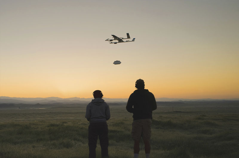 The Project Wing team is testing automated flight and delivery in rural California. Photo courtesy of Project Wing / X.
