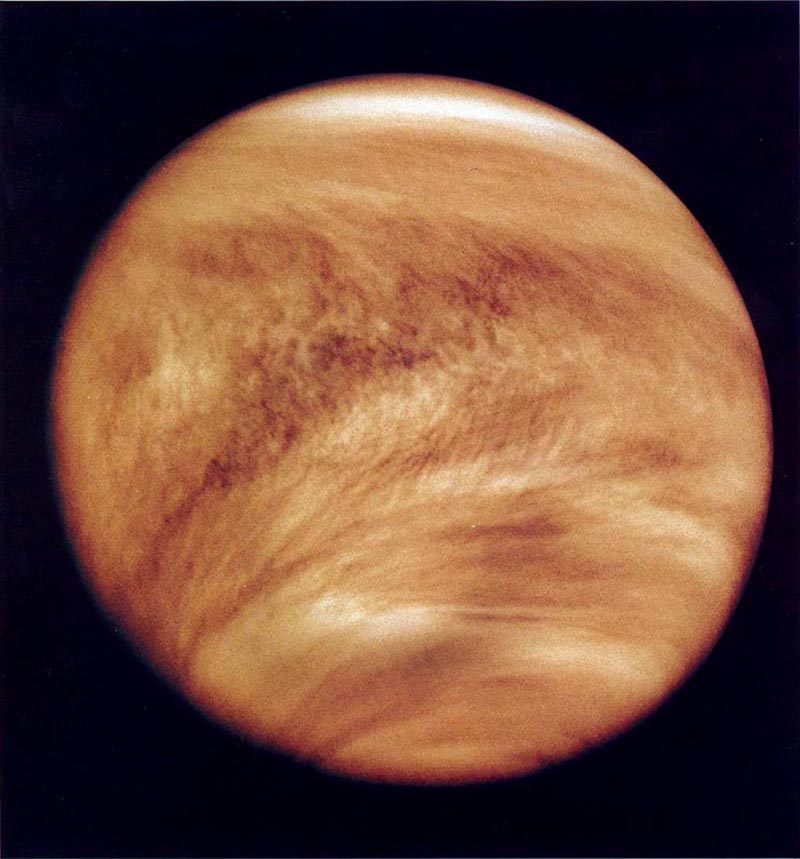 NASA.Venus is the namesake of the ancient Roman goddess of love and beauty. This ultraviolet image of the could-covered planet was taken by the Pioneer Venus Orbiter in 1979. Credit - NASA