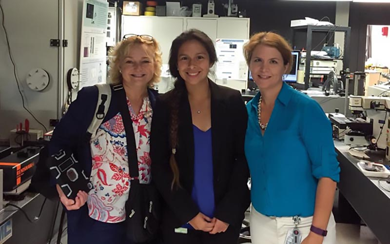Pictured left to right - Dr. Angela Hight Walker, Vanessa Espinoza, Dr. Erin Wood. Photo courtesy Vanessa Espinoza.