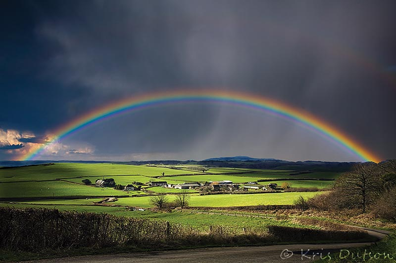 A perfect rainbow. Dorset, UK. Photo ©Kris Dutson. www.southernscenicphotography.co.uk
