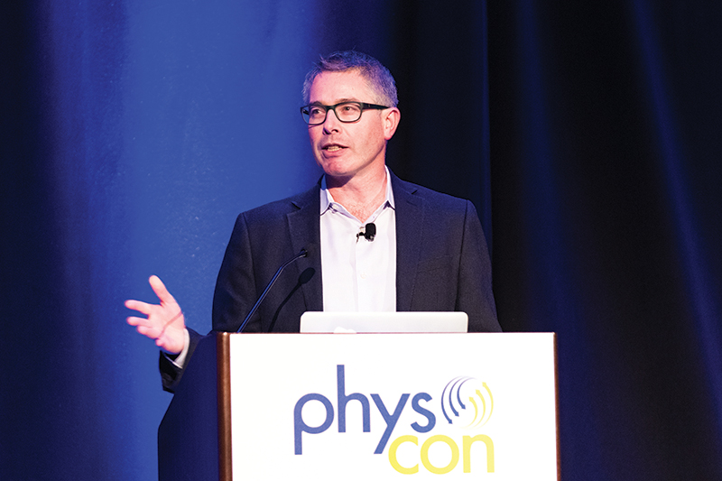 "Dr. Patrick Brady presents ""The Dawn of Gravitational-wave Astronomy""  at PhysCon 2016."
