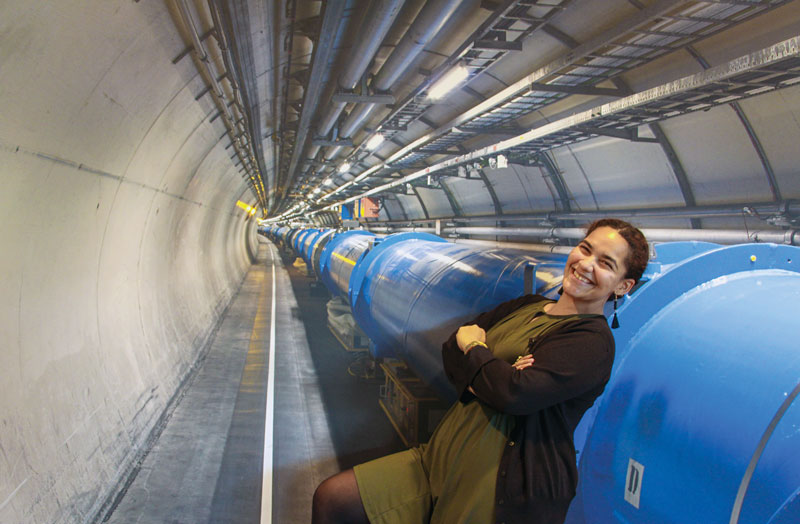 Photo of Diyaselis M. Delgado Lopez at CERN. Photo courtesy of Diyaselis M. Delgado Lopez.