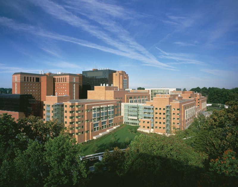 The Mark O. Hatfield Clinical Research Center (Building 10), NIH campus, Bethesda, MD. Photo courtesy of NIH.