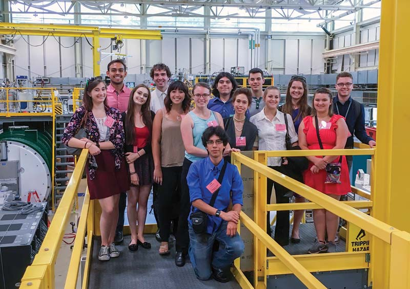 NIST Tour with intern cohort. NIST Center for Neutron Research.