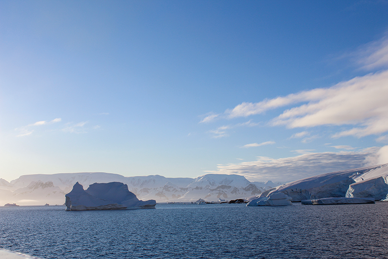 View near the northernmost tip of the Western Antarctic Peninsula. Photos courtesy of Jacquelyn Veatch.