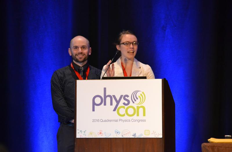 Zone 15 and Zone 11 Associate Zone Councilors Bryant Ward and Lisa McDonald at PhysCon 2016.
