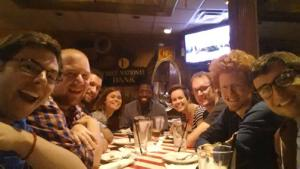 The group of us at TGI Friday's.