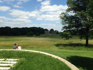 "The ""plains"" with the columns from the old Capital building at the other end of the field!"