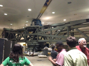 A view of Goddard's massive centrifuge. I couldn't fit the whole thing on one frame!