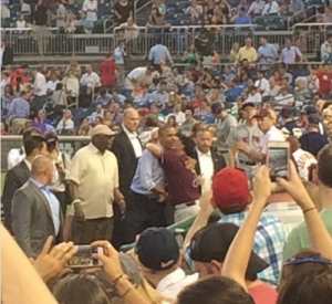 President Obama at the Congressional Baseball Game!