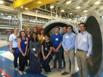 SPS interns in the neutron guide hall