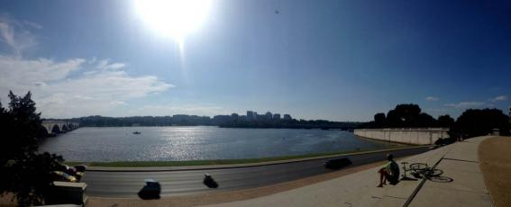 View of Potomac from behind Lincoln Memorial