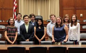 SPS interns visit Congress in a tour organized by Mather Policy interns Elias Kim and Drew Roberts.
