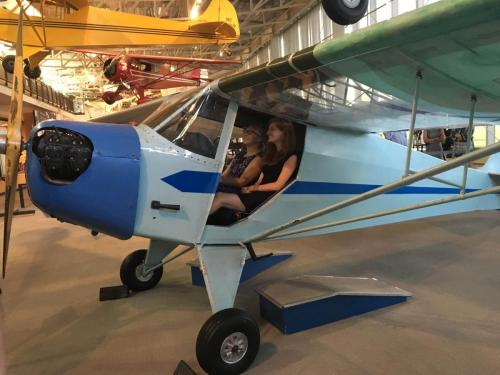 Maria and Sam at the College Park Aviation Museum