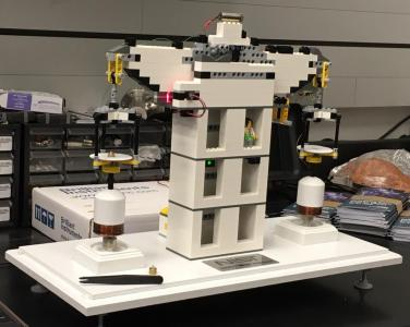 Lego model of the experiment that is redefining the kilogram