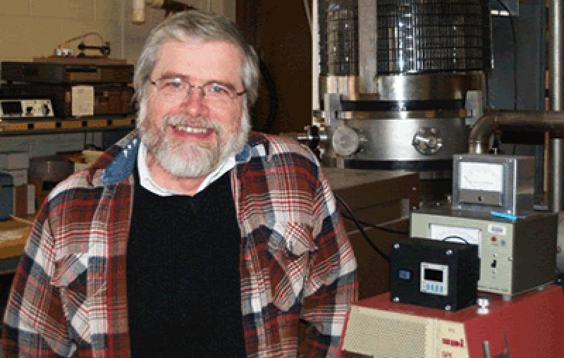 Jim Gaier, research physicist at NASA Glenn Research Center, Cleveland, OH. Photo courtesy of NASA.
