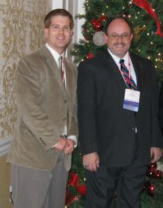 Sean Bentley with Professor Steve Watkins from MS&T, at a conference in 2005
