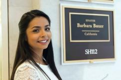 Amandeep Gill outside the office of Barbara Boxer. Photo by Courtney Lemon.
