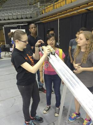 Hands-on activities are more memorable than simple displays or demo shows, and should be incorporated into outreach whenever possible. Photo courtesy of Appalachian State University.