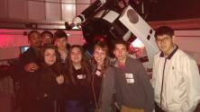Swarthmore and University of the Sciences students at the Peter van de Kamp Observatory.
